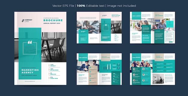 Design der business-broschüre oder des geschäftsberichts und des firmenprofils