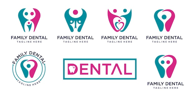 Design der dental-logo-vorlage