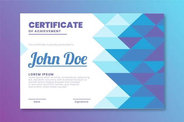 Design der diplomvorlage