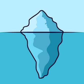 Design der eisberg-cartoon-ikone