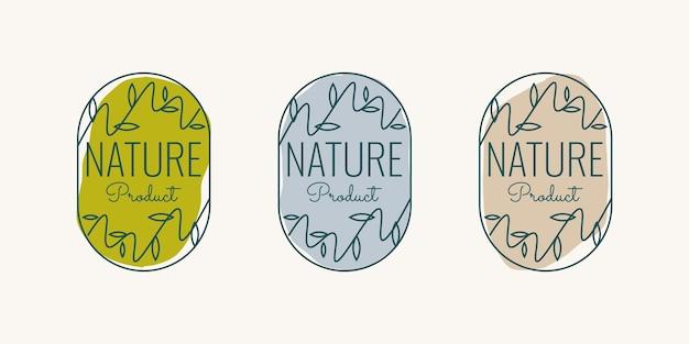 Design der etikettenvorlage für naturprodukte