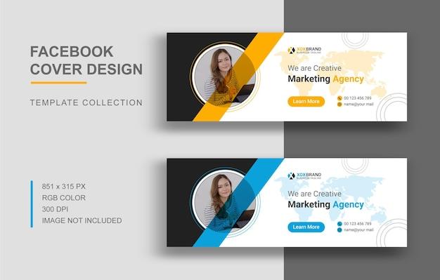 Design der facebook-cover-vorlage für digitales marketing