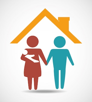 Design der familieneinheit