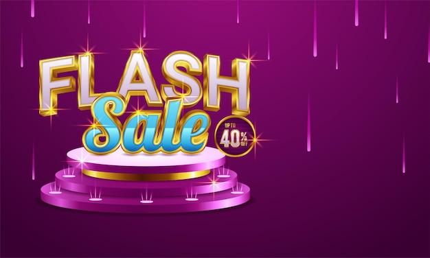 Design der flash-sale-banner-vorlage