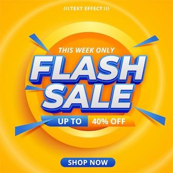 Design der flash-verkaufsbanner-vorlage
