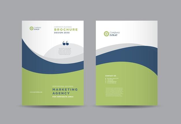 Design der geschäftsbroschüre, jahresbericht und firmenprofil, broschüre.