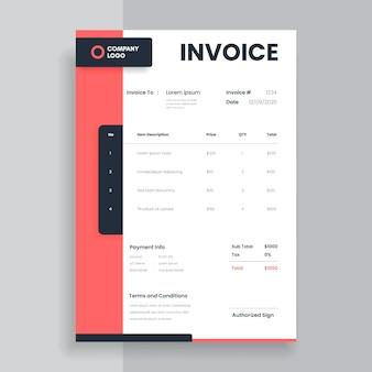 Design der geschäftsrechnungsvorlage