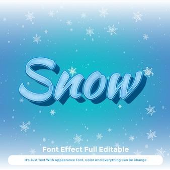Design der grafischen art 3d des schneeflockentextes