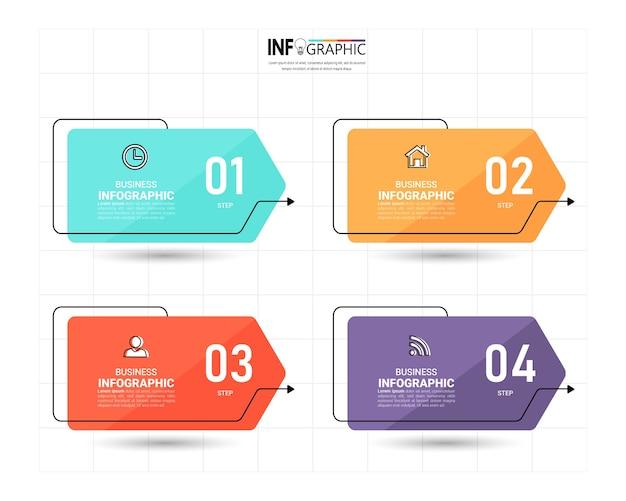 Design der infografik-geschäftsvorlage