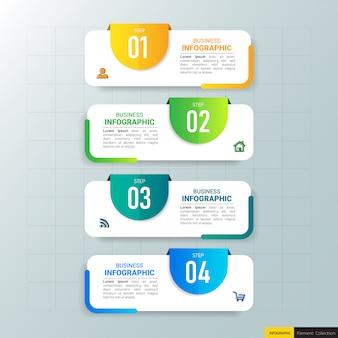 Design der infografik-geschäftsvorlage.