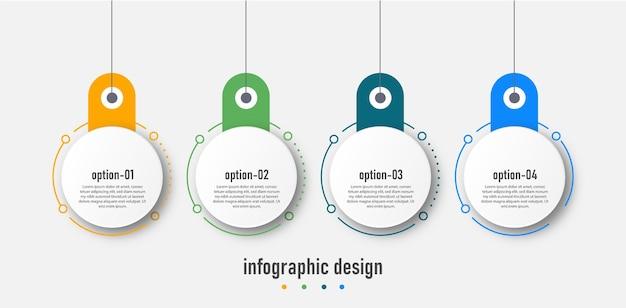 Design der infografik-vorlagenelemente