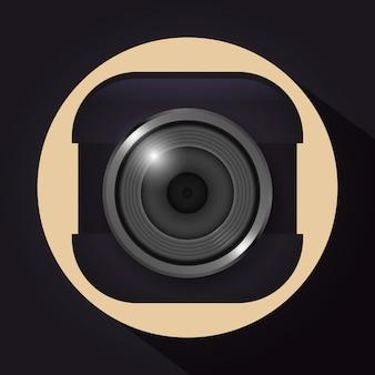Design der kameraausrüstung