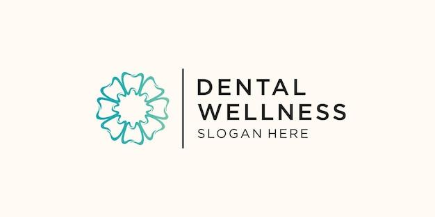 Design der logo-vorlage für die zahnpflege