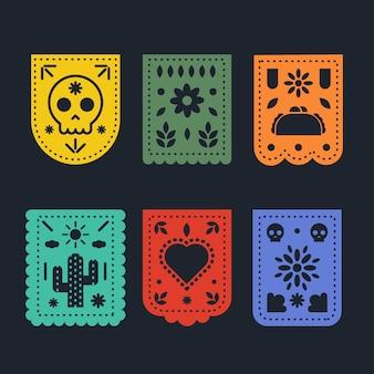 Design der mexikanischen ammerkollektion