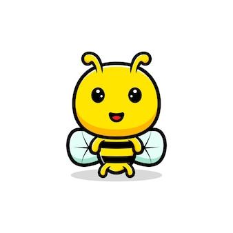 Design der niedlichen honigbiene.