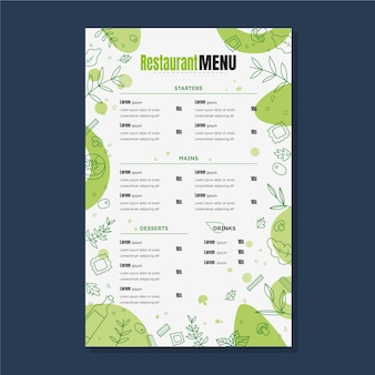 Design der restaurant-menüvorlage