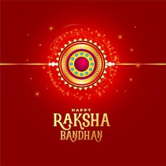 Design der roten karte des raksha-bandhan-festivals