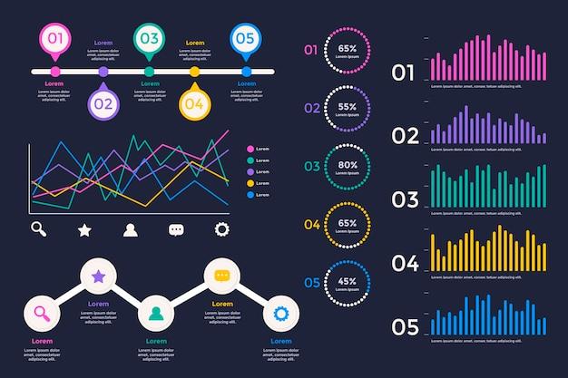 Design der sammlung von infografik-elementen