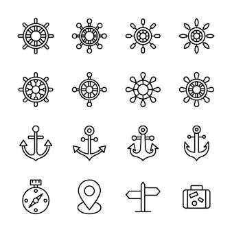 Design der schiffssteuerung und der neuticals-linie