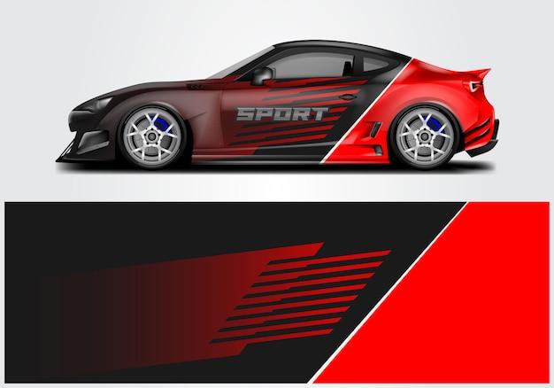 Design der sportwagenverpackung