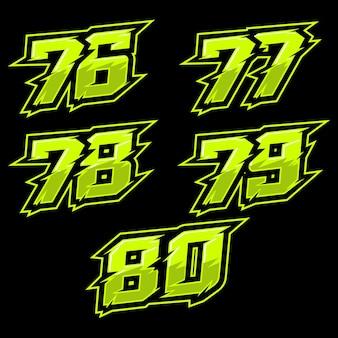 Design der startnummer