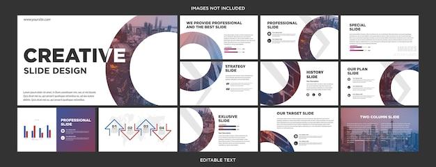 Design der startpräsentationsfolie