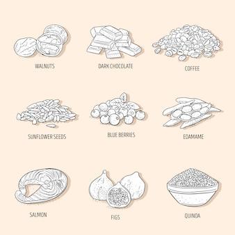 Design der superfood-kollektion