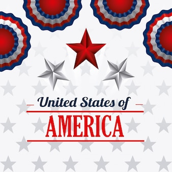 Design der vereinigten staaten von amerika.