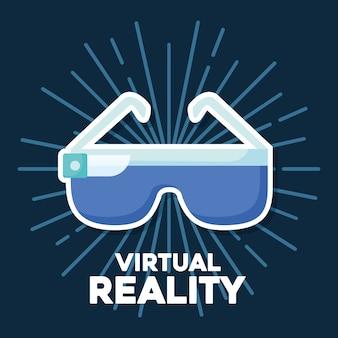 Design der virtuellen Realität mit vr Glasikone