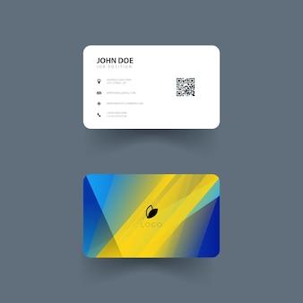 Design der visitenkarte mit abstrakten formen