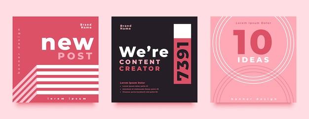 Design der vorlage für social media-posts für unternehmen