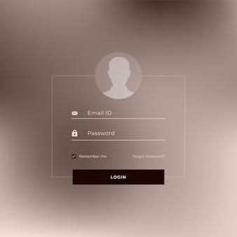 Design der website- oder anwendungs-anmeldeseite-vorlage
