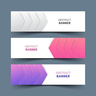 Design des abstrakten bunten bannersatzes