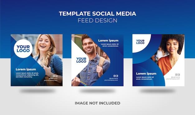Design des feeds für social media-vorlagen