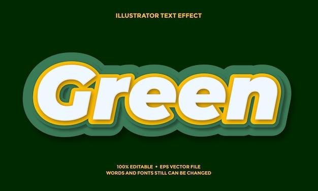 Design des grünen und gelben texteffekts oder des schriftarteneffektstils