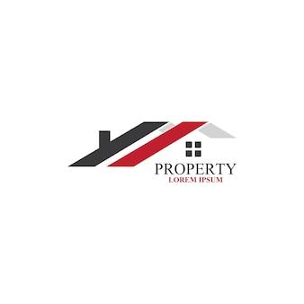 Design des immobilienlogos