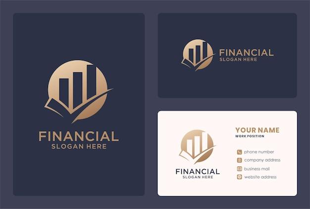 Design des logos für die finanzielle validierung des wachstums.