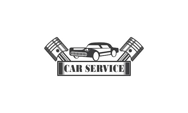 Design des logos für die reparatur von mechanic services engineering