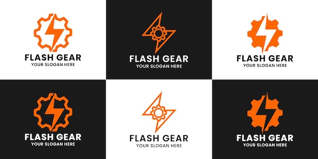 Design des logos von thunder gear inspiration