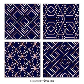 Design des luxusmustersammlungshintergrundes