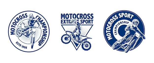 Design des motocross-logos