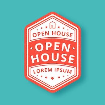 Design des open house labels
