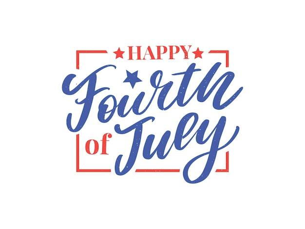 Design des stilvollen amerikanischen unabhängigkeitstags des vierten juli