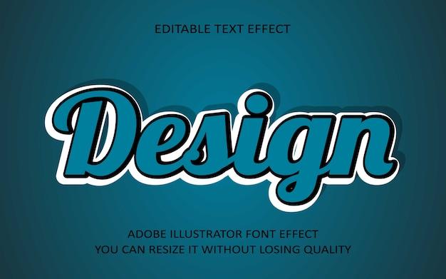 Design editierbaren text effekt