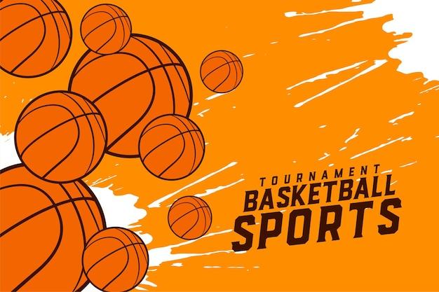 Design eines basketball-sportturniers