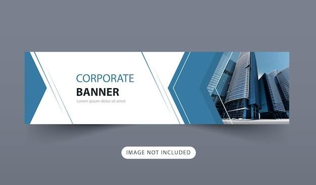 Design eines einfachen banners mit blauer formfarbe