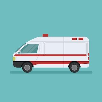 Design eines medizinischen rettungswagens