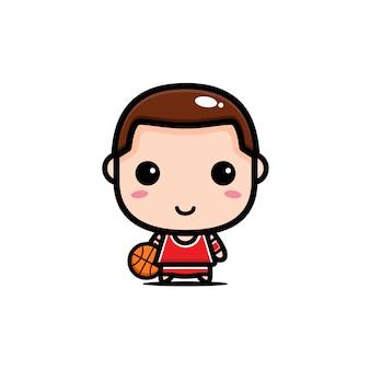 Design eines niedlichen basketballspielers