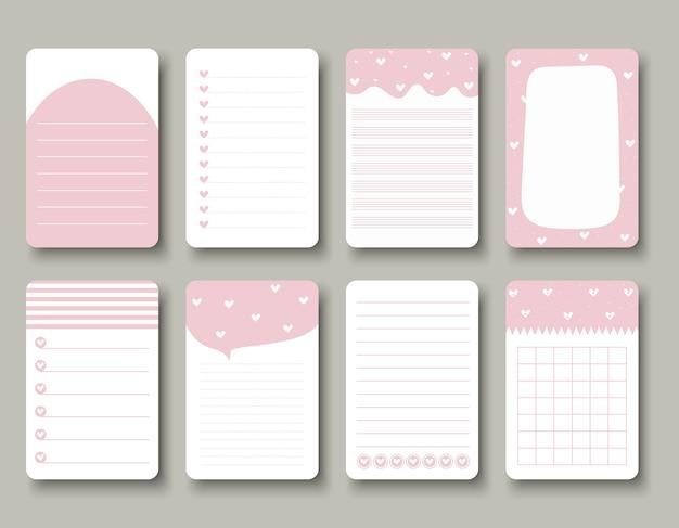 Design-elemente für notebook, tagebuch, aufkleber und andere