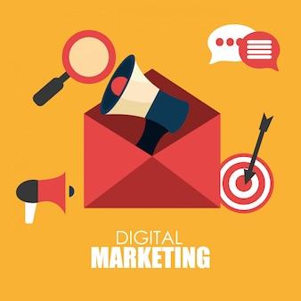 Design für digitales marketing.